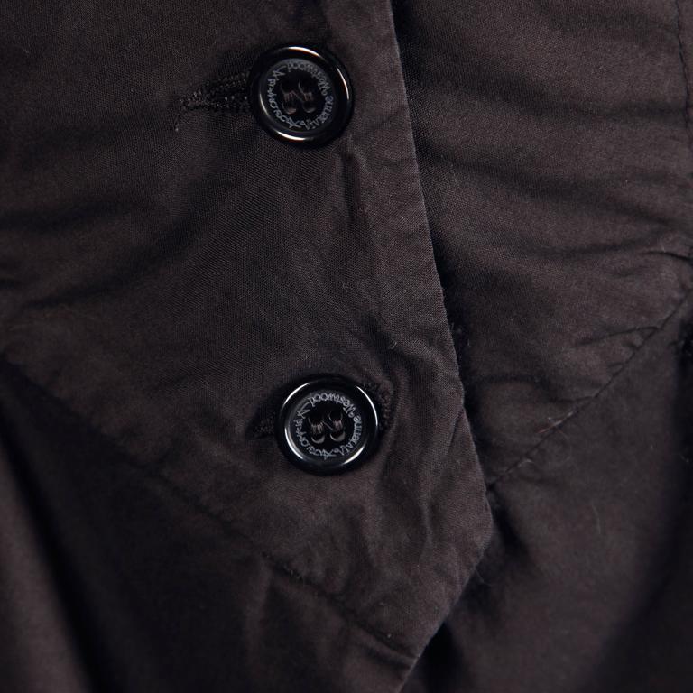 Unworn Vivienne Westwood Anglomania Black Eyelet Jacket with Original Tags For Sale 3