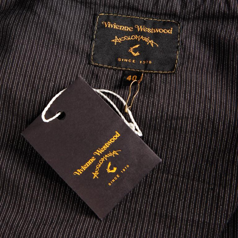 Unworn Vivienne Westwood Anglomania Black Eyelet Jacket with Original Tags In New Condition For Sale In Sparks, NV