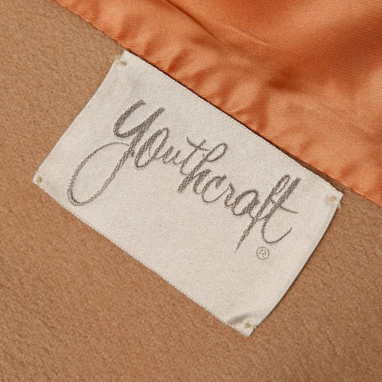 1970s Vintage Youthcraft Wool Camel Cape Coat For Sale 1