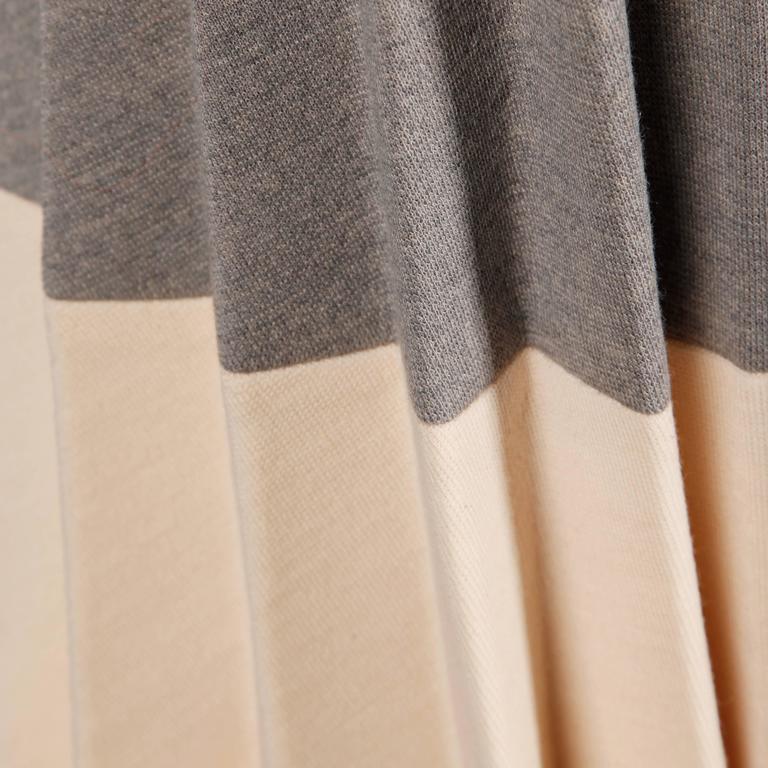 Lilli Ann 1960s Vintage Mod Wool Striped Coat, Dress + Belt 3-Piece Ensemble 6
