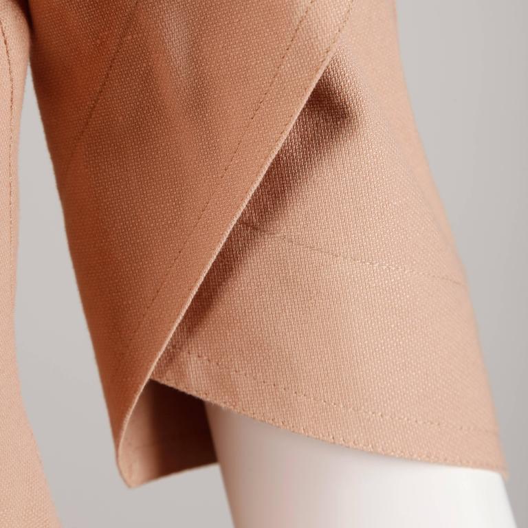 Fendi Blush Pink Avant Garde Jacket and Skirt Suit 2 Piece Ensemble For Sale 1