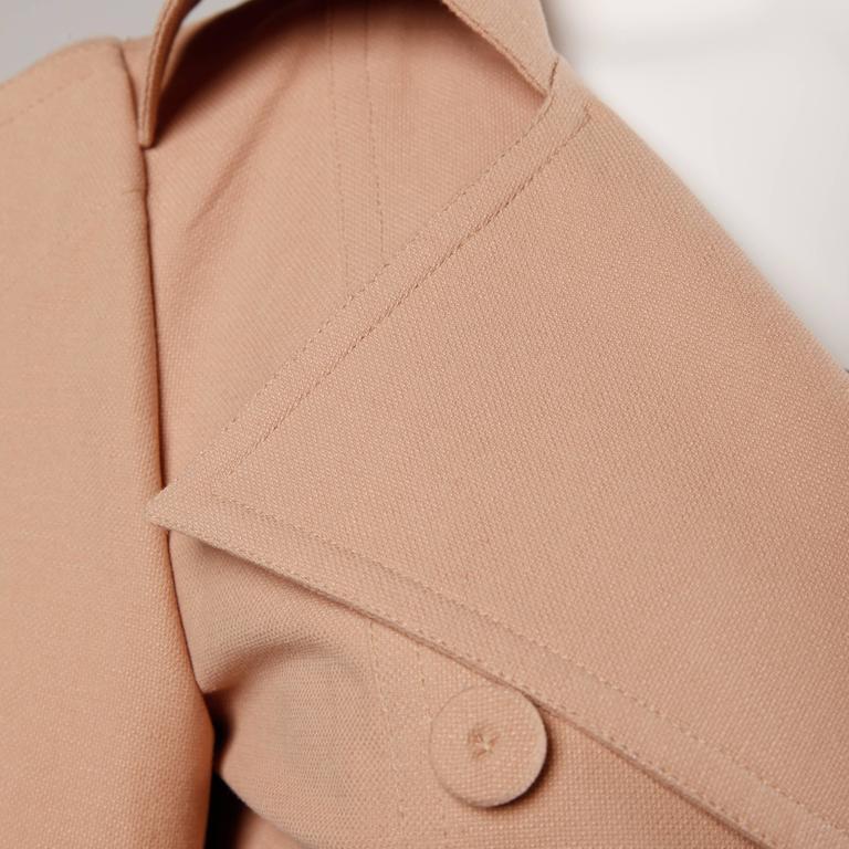 Women's Fendi Blush Pink Avant Garde Jacket and Skirt Suit 2 Piece Ensemble For Sale