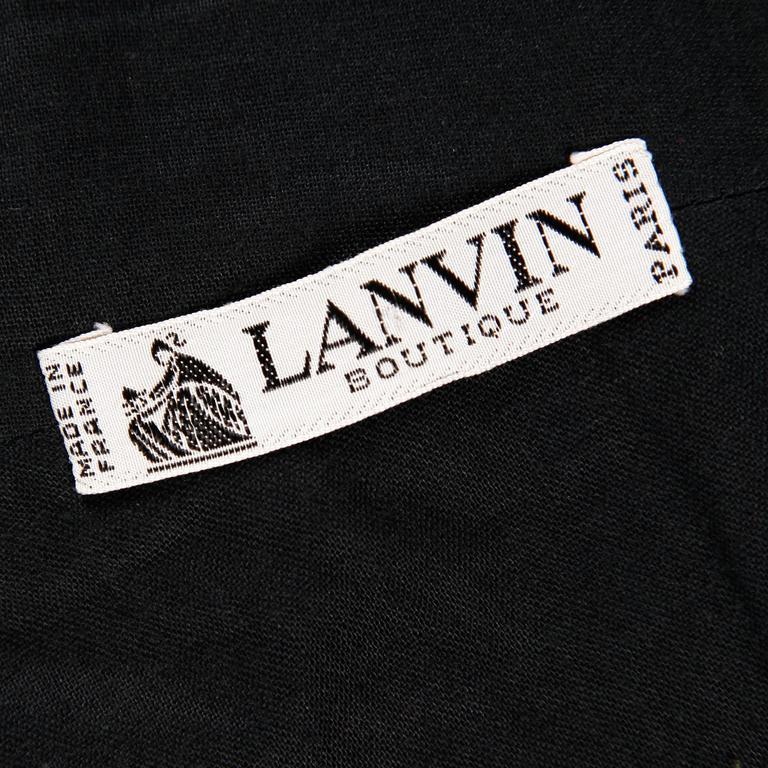 Women's Lanvin 1980s Vintage Strapless Little Black Dress with Peplum For Sale