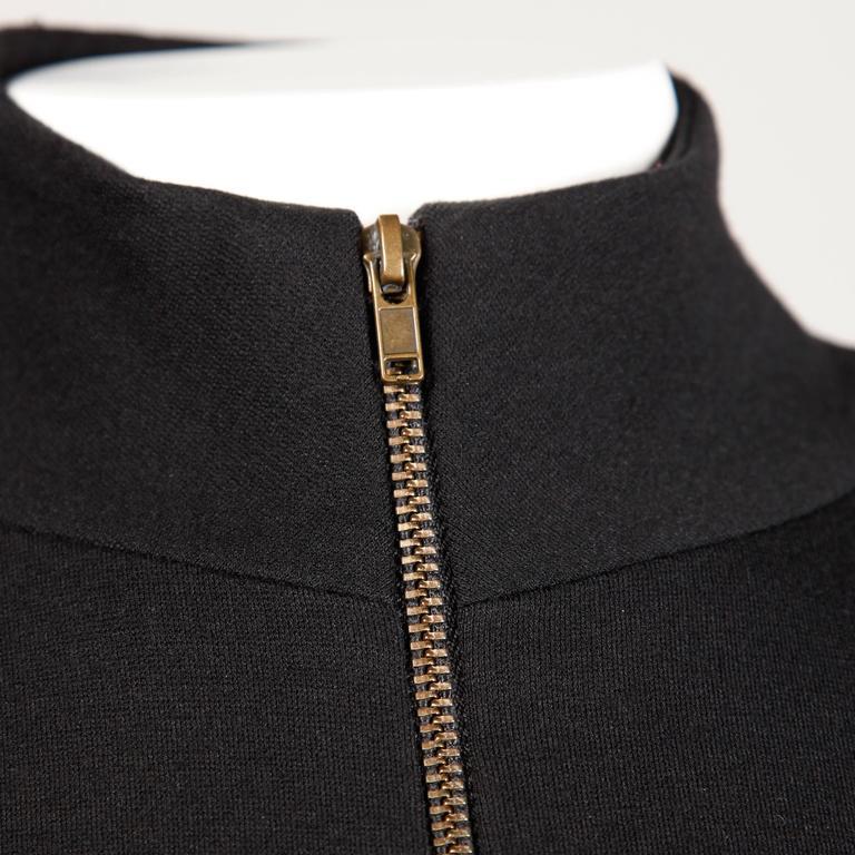 Thierry Mugler Vintage Avant Garde Circular Striped Long Sleeve Dress, 1980s  For Sale 2