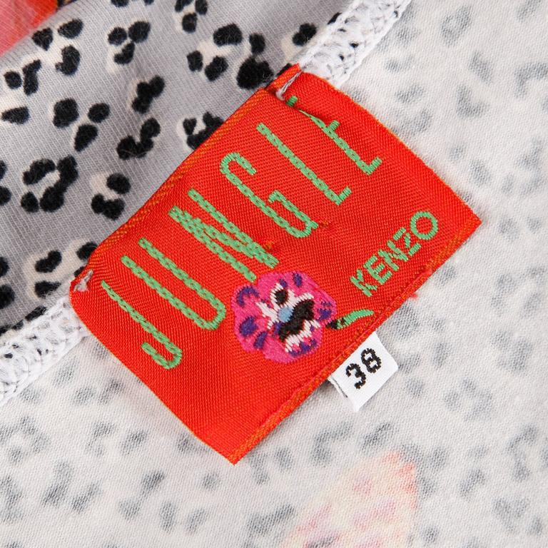 Kenzo Vintage 90s Stretchy Leopard Butterfly Print Body Con Dress In Excellent Condition For Sale In Sparks, NV