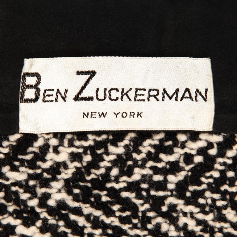 Heavy weight woven herringbone wool jacket with genuine Persian lamb fur trim by Ben Zuckerman for Bergdorf Goodman. Stunning construction with hand finished detailing throughout the jacket.  Details:   Fully Lined Estimated Size: