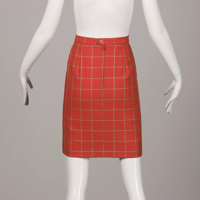 1980s Bernard Perris Vintage Wool/ Cashmere Jacket + Skirt Suit Ensemble For Sale 1