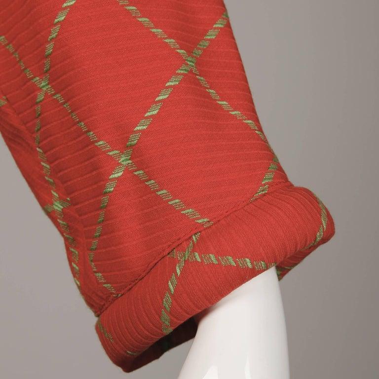 1980s Bernard Perris Vintage Wool/ Cashmere Jacket + Skirt Suit Ensemble For Sale 3