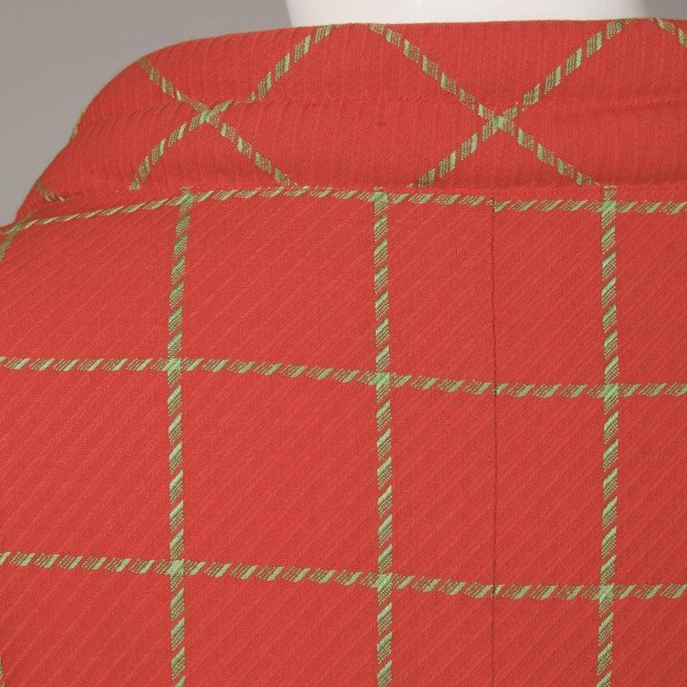 1980s Bernard Perris Vintage Wool/ Cashmere Jacket + Skirt Suit Ensemble For Sale 4