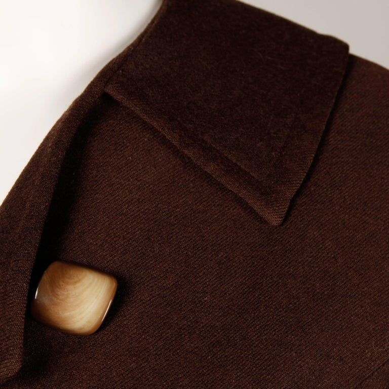 1950s Cari Colette Vintage New Look Brown Wool Tailored Jacket For Sale 2