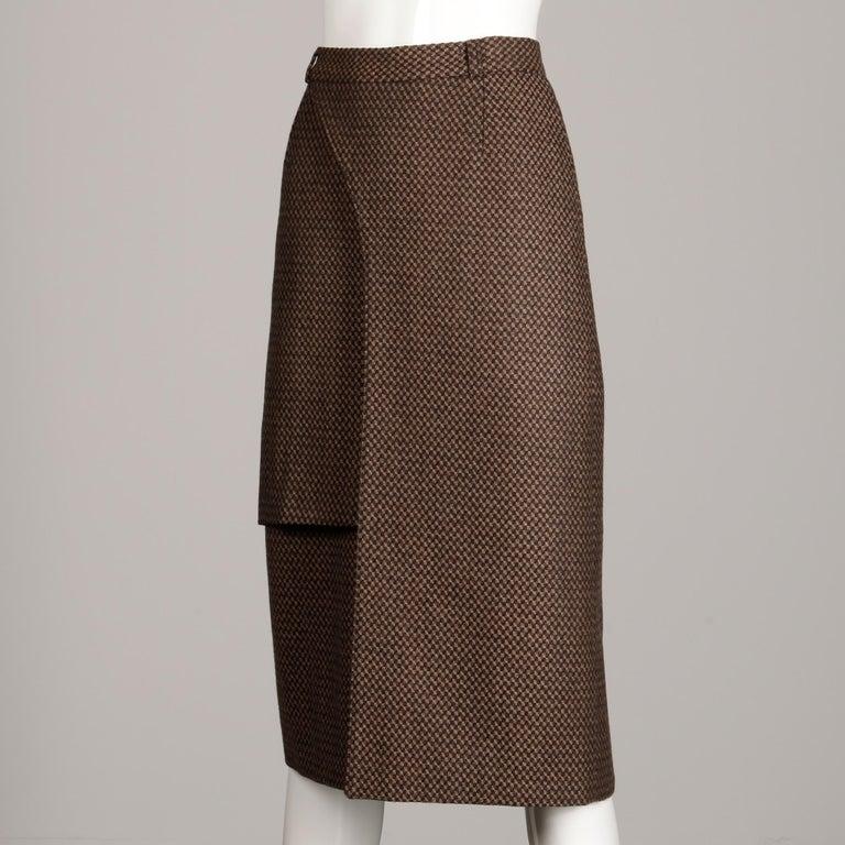 Women's Philippe Dalma Paris Vintage Avant Garde Pencil Skirt- 1980s France For Sale