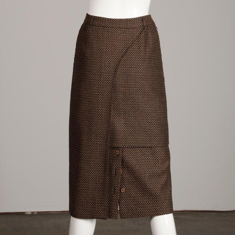 Philippe Dalma Paris Vintage Avant Garde Pencil Skirt- 1980s France For Sale 2