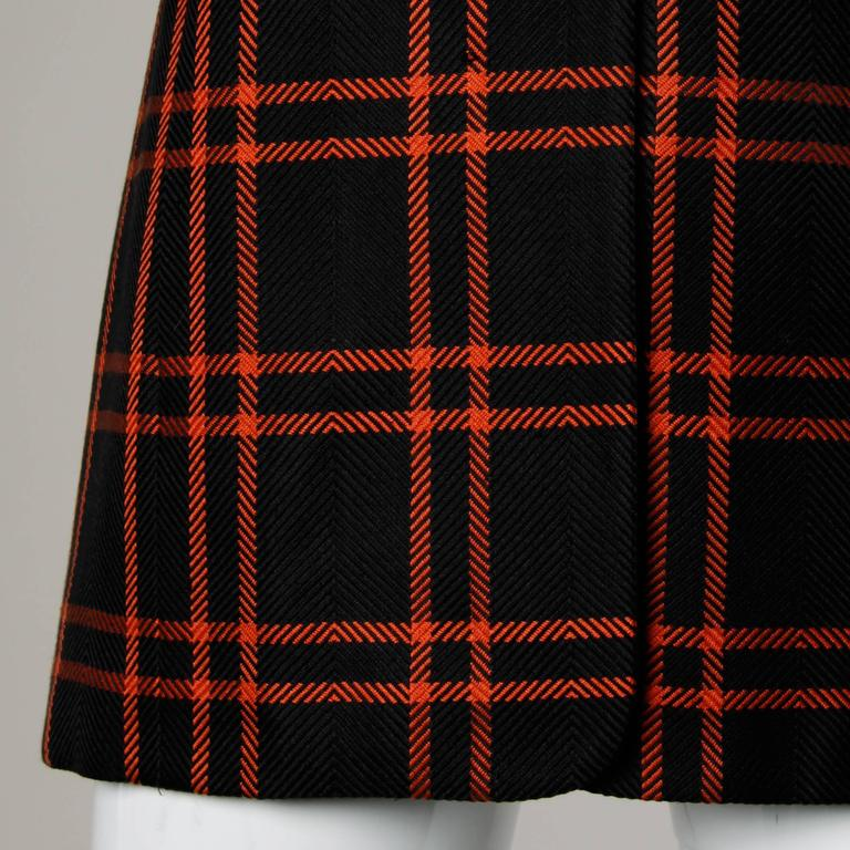 Christian Dior Vintage Silk Plaid Blazer Jacket For Sale 1