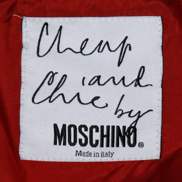 Women's Moschino Vintage 1990s Red + Black Color Block Jacket For Sale