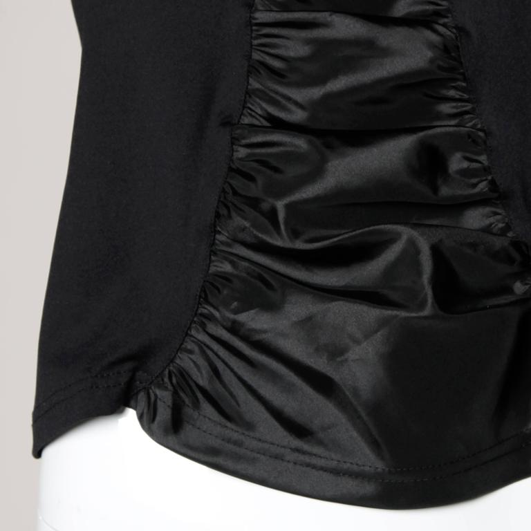 Anne Fontaine French-Made Ruched Long Sleeve Top or Shirt For Sale 2