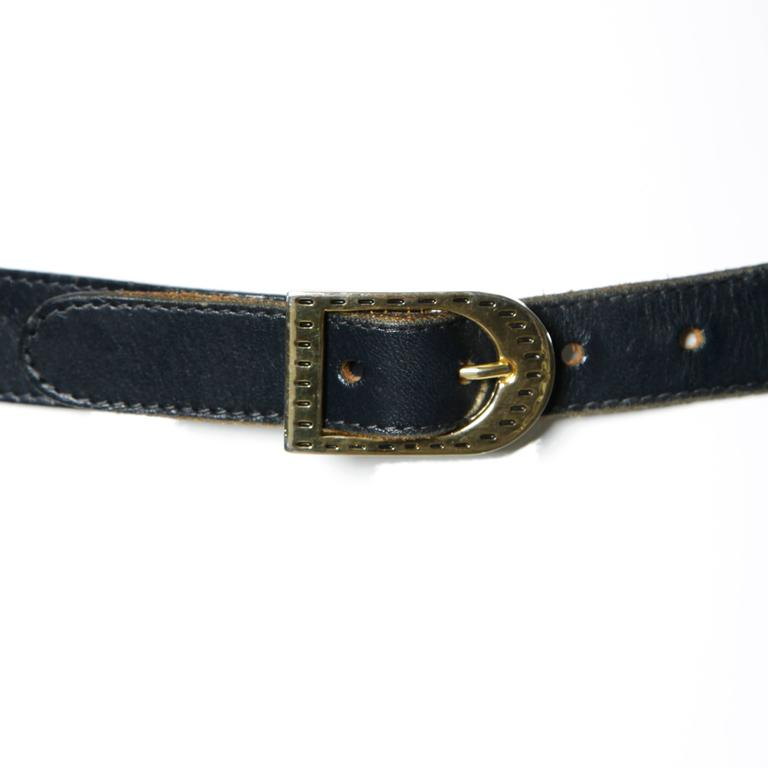 Irene Sargent Vintage Leather Cut Out Belt with Rainbow Embroidery, 1970s  5