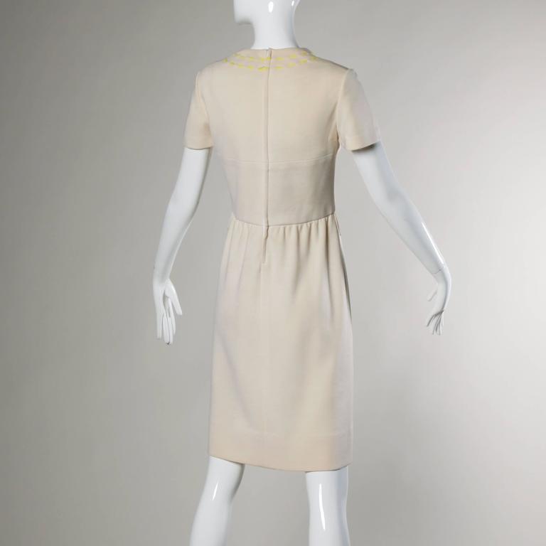 1960s Vintage Gino Paoli Mod Italian Wool Knit Coat + Dress Ensemble For Sale 3