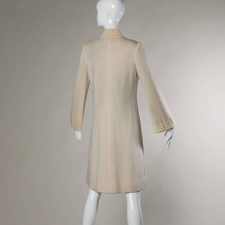 1960s Vintage Gino Paoli Mod Italian Wool Knit Coat + Dress Ensemble For Sale 4