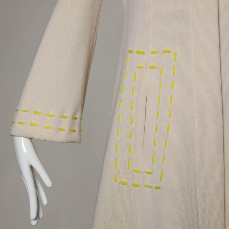 1960s Vintage Gino Paoli Mod Italian Wool Knit Coat + Dress Ensemble For Sale 2