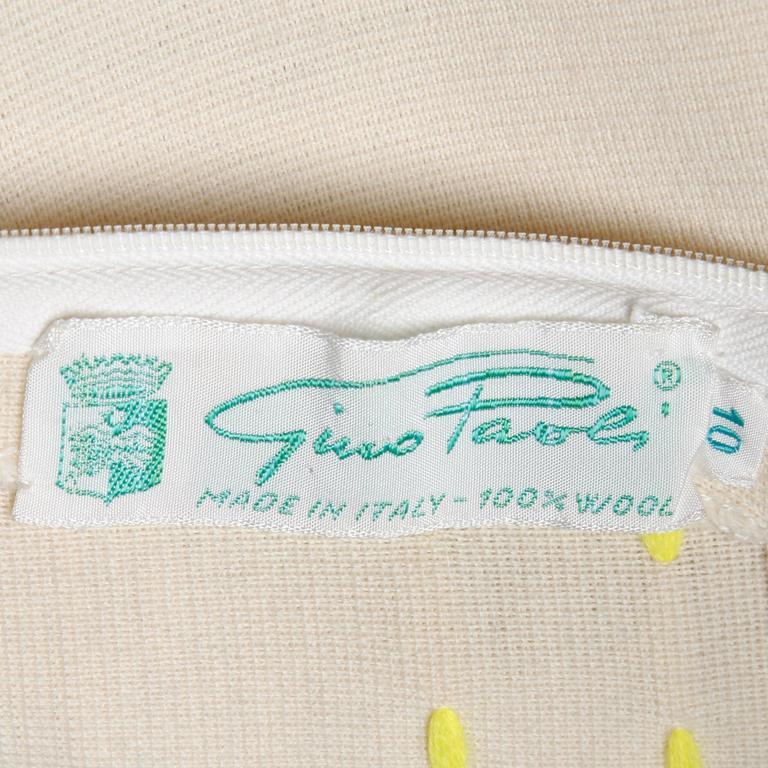 Gray 1960s Vintage Gino Paoli Mod Italian Wool Knit Coat + Dress Ensemble For Sale