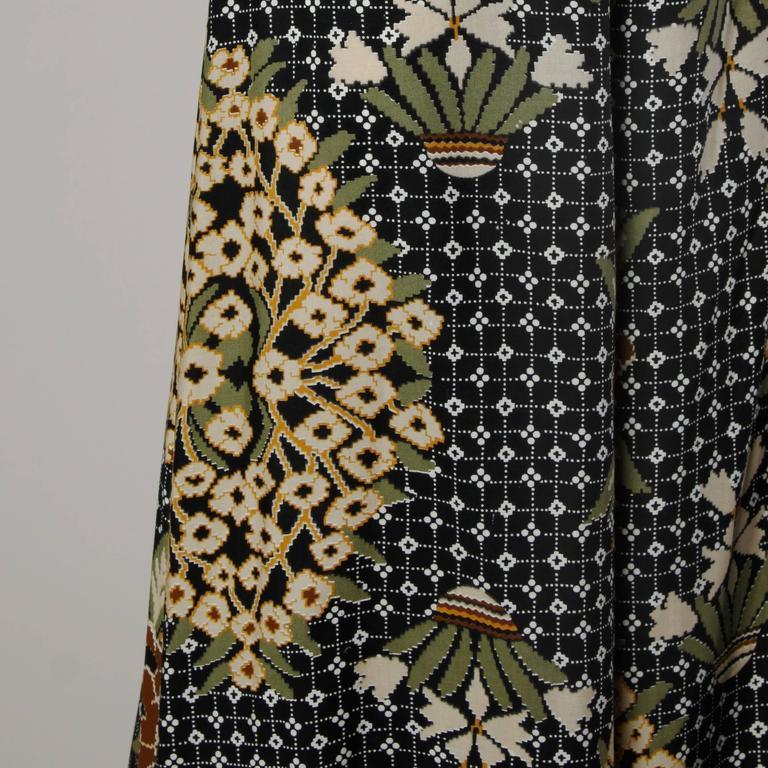 1970s Rizkallah for Don Friese Vintage Boho Print Wide Leg Palazzo Pants 5