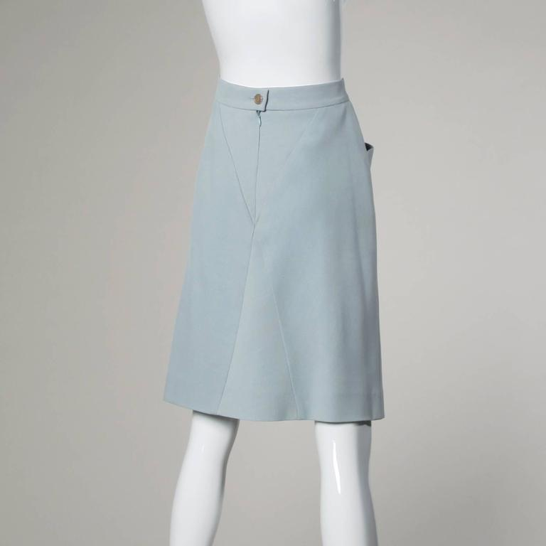 karl lagerfeld vintage pale blue skirt for sale at 1stdibs