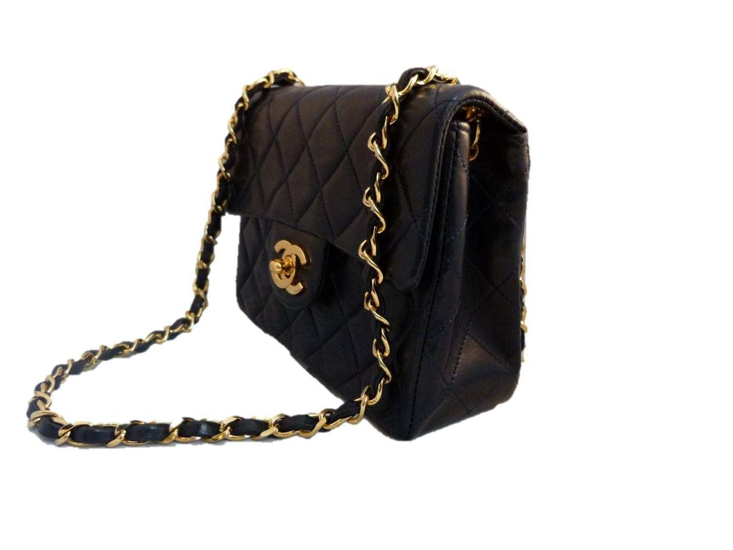 chanel blue leather timeless crossbody bag at 1stdibs