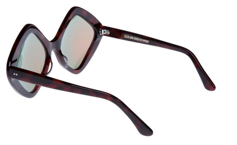 Cutler and Gross Oversized Diamond Shape Sunglasses at 1stdibs