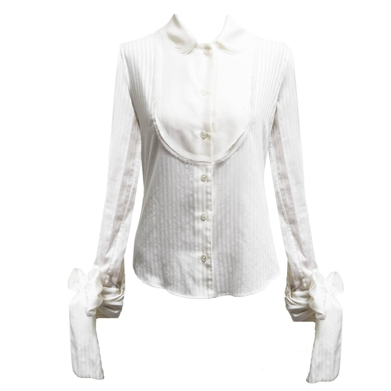 viktor and rolf silk cotton blend blouse for sale at 1stdibs. Black Bedroom Furniture Sets. Home Design Ideas