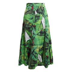 Trelise Cooper Aline Nautical Watercolor Skirt