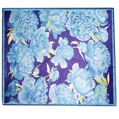 Hermes Silk Chiffon Floral Scarf