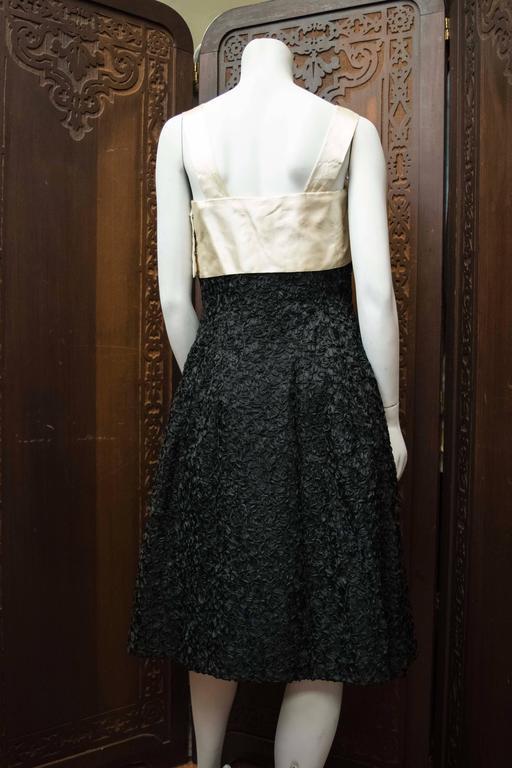 Black 1950s Elizabeth Arden Cocktail Dress