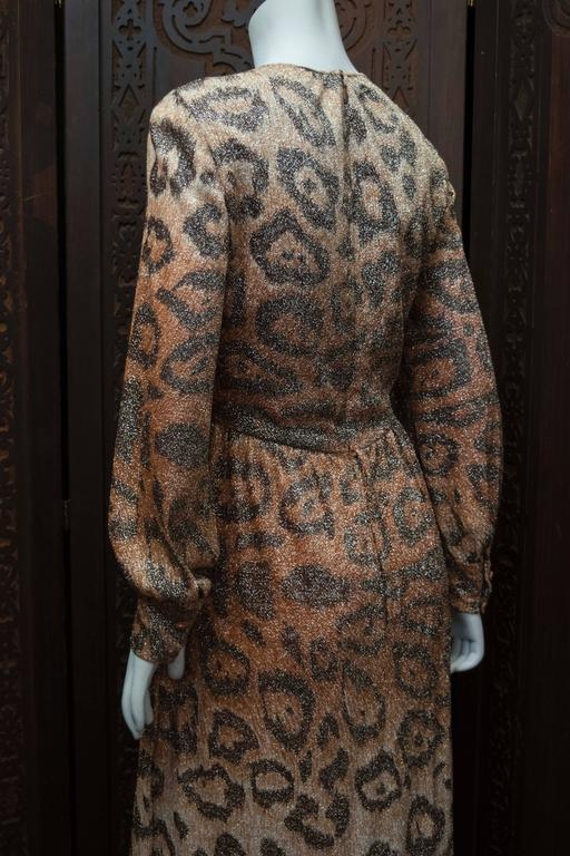 Adele Simpson Sparkly Leopard Print Maxi Dress For Sale 3