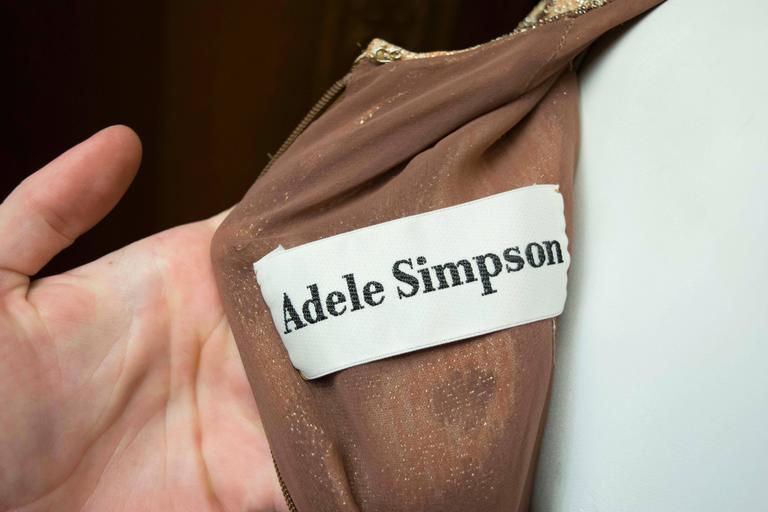 Adele Simpson Sparkly Leopard Print Maxi Dress For Sale 5