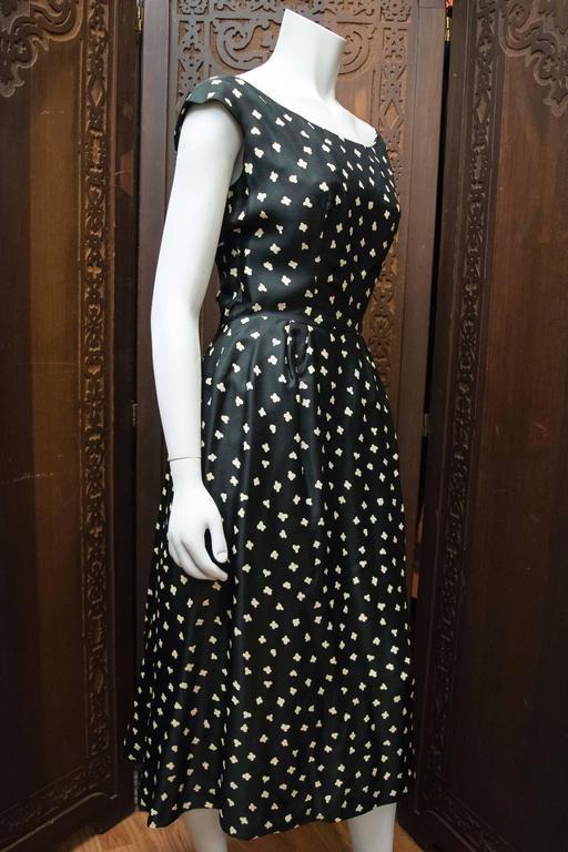 1950s Popcorn Print Dress 3