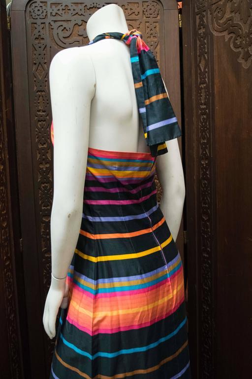 1970s Striped Maxi Dress  B 34 W 28 H 40 L 58