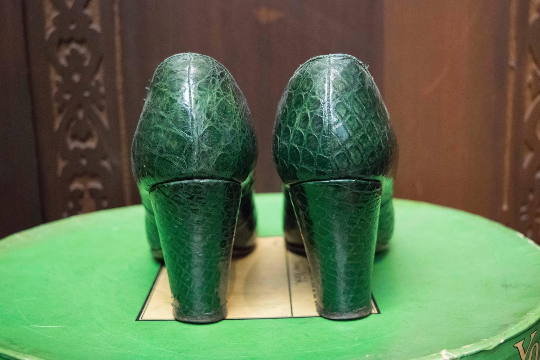 1930s Green Alligator High Heels For Sale At 1stdibs