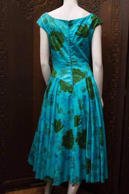 1950s Blue Sun Dress 5