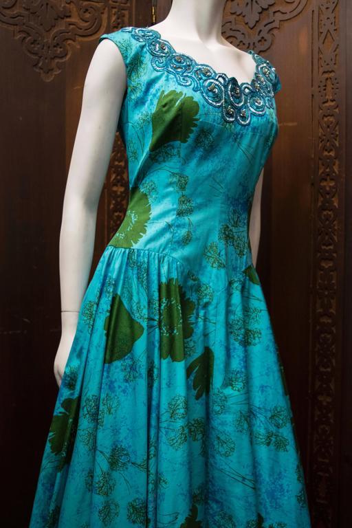 1950s Blue Sun Dress 4