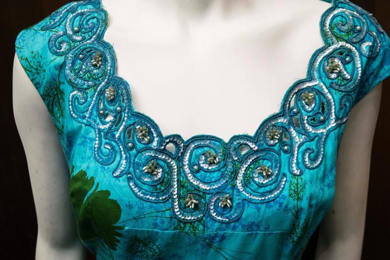 1950s Blue Sun Dress 2