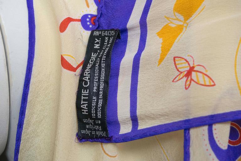 Hattie Carnegie Silk Scarf In Good Condition For Sale In San Francisco, CA