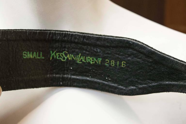 Women's 1990 Yves Saint Laurent Rhinstone Waist Belt  For Sale