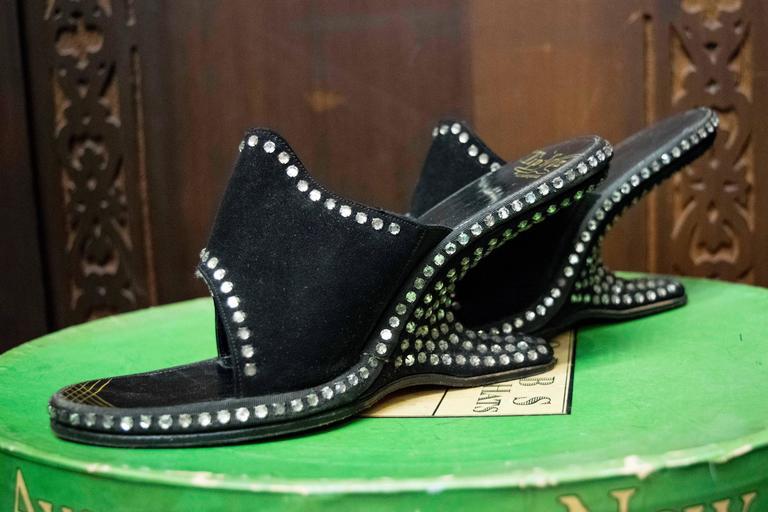 1940s Rhinstone Heels   Size 5.5 US