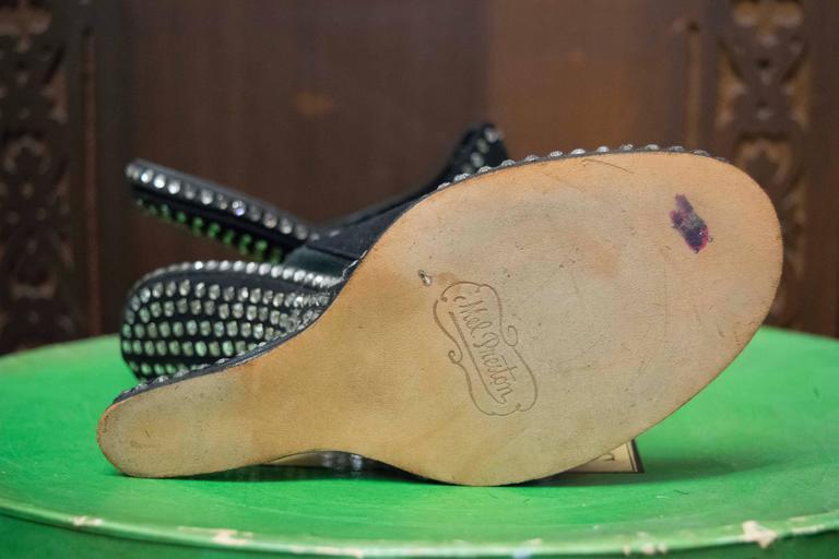 1940s Rhinstone Heels  For Sale 1