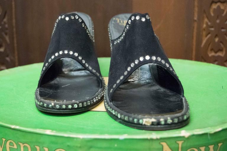 Women's 1940s Rhinstone Heels  For Sale
