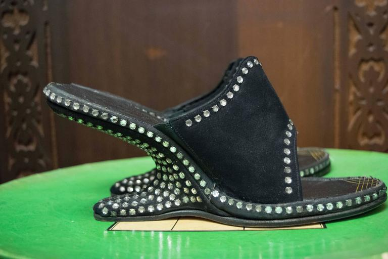 1940s Rhinstone Heels  In Good Condition For Sale In San Francisco, CA