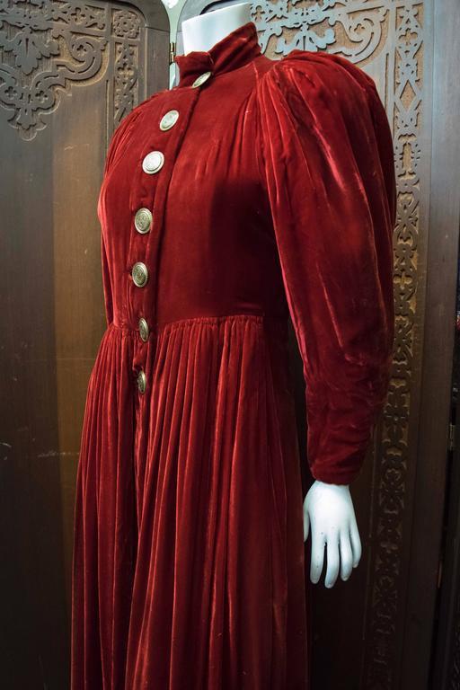 1930s Red Velvet Opera Coat  2
