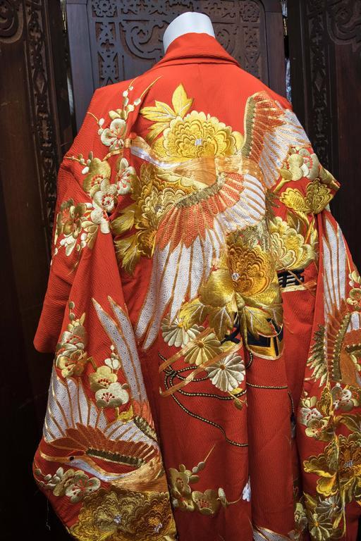 Red and Gold Ceremonial Kimono