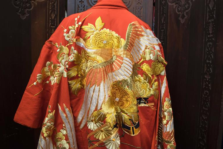 Red and Gold Ceremonial Kimono For Sale 1