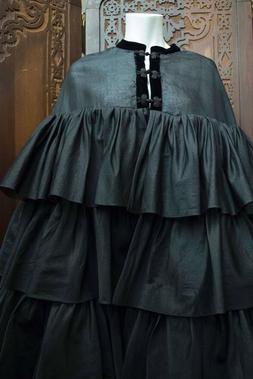 1970s Black Layered Floor Length Cape For Sale At 1stdibs